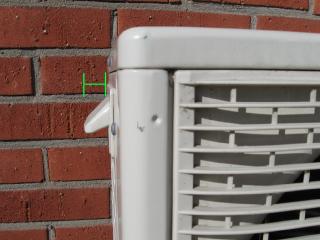 Försäkra dig om att inkludera alla utskjutande delar på värmepumpen.